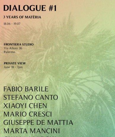 Dialogue #1, 3 years of Matéria