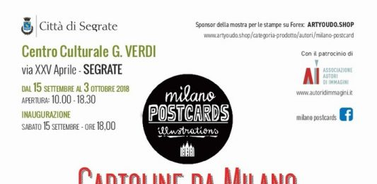 Milano postcards illustrations