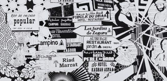 Maurizio Cannavacciuolo – Three Large Black And White Paintings.