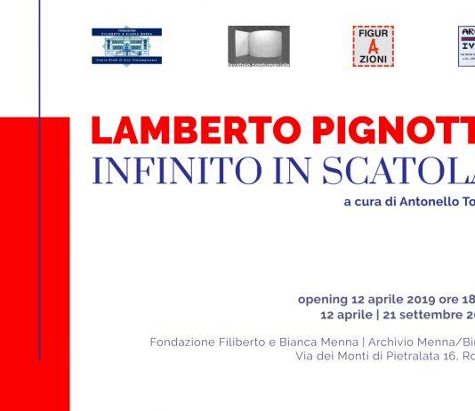 Lamberto Pignotti – Infinito in scatola