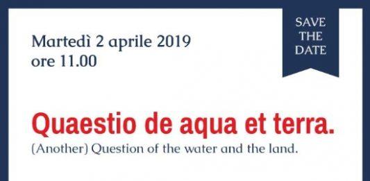 Quaestio de aqua et terra. (Another) Question of the water and the land