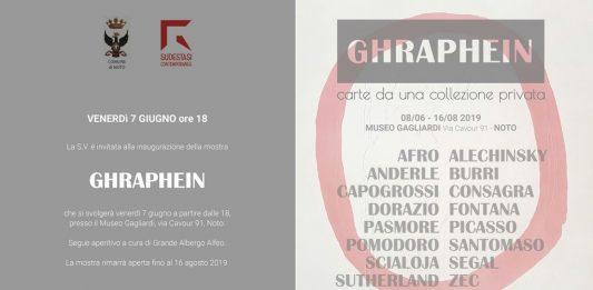 Ghraphein, carte da una collezione privata
