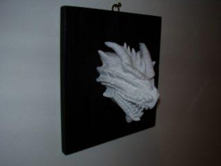"""- CERAMICS SCULPTURE'S -  Testa di drago n.ro 2, realizzata in ceramica di Sevres nell'ottobre 2007. Opera in mostra presso la collettiva """"SEGNI 20 X 20"""" al Maneggio Chiablese (dal 06/12 al 30/12)."""