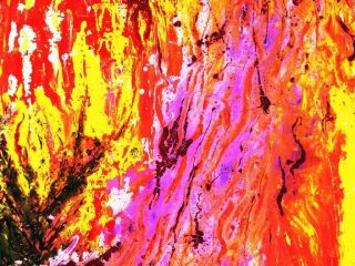 DANZA   CROMATICA Olio  su tela 60X80 Anno 2009 Maria   Pezzica