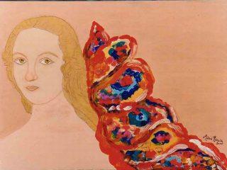 AMORE  ANGELICO Acrilico su tela 35X25 Anno 2000 Maria  Pezzica