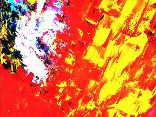 SENSAZIONI   ARMONIOSE Acrilico su tela 50X70 Anno 2005 Maria   Pezzica