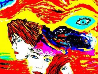 DOMANDE Acrilico su tela 80X100 Anno 2000 Maria  Pezzica