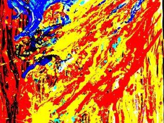 IMPRESSIONE  STUPEFACENTE Tecica mista su  tela 60X80 Anno 1999 Maria   Pezzica