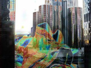 Cloverfield tecnica mista su tela, 100x70cm anno 2008