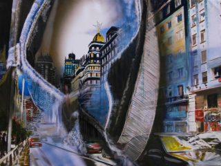 Window tecnica mista su tela, 150x100 cm  Premio Arte Fiera Bergamo 2009