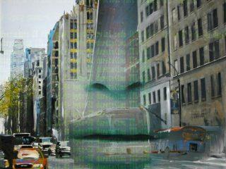 Admin, 2009 tecnica mista su tela, 110x100cm