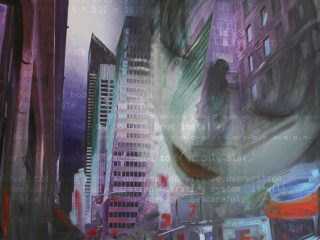 Invasion 110x100cm tecnica mista su tela, 2009