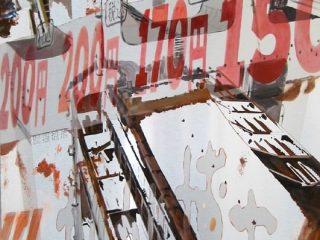 Apertis verbis 96x70cm olio su alluminio 2011