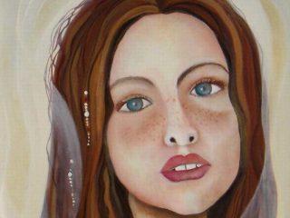 """""""giovane sposa-dettaglio"""" olio su tela 50x60"""