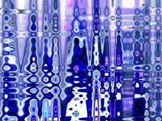La cattedrale sull'acqua elaborato digitale da un mio dipinto