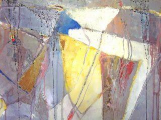 """"""" Bagliori astratti """" Olio,vernici su tela - cm. 100x50"""