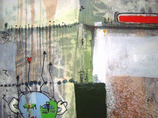 """""""Passato,presente e..."""" Tecn. mista su tela - cm. 70x90, 2009"""