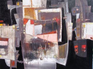 """""""Periferia in città"""" Olio su tela - cm. 100x120"""