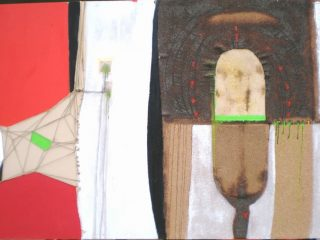 """L'Uomo ed il mondo"" Tecn. mista su tela - cm. 150x100"
