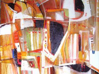 """Composizione euforica"" Olio su tela - cm. 80x80"