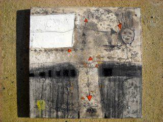 """""""Percorso artistico"""" Tecn. mista su tela-cm.60x60, 2009"""
