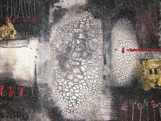 """"""" Natura pensosa """" Olio,vernice e cretto su tela - cm. 100x120"""