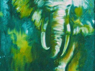 olio su tela tecnica mista
