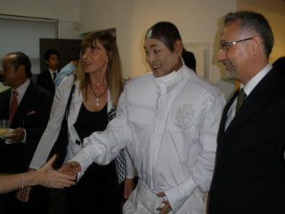 Galerie PICI, Seoul, 2008 - Francesca Poto with André Kim and Lucio Izzo director of IIC