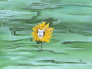 """""""Il sorriso forzato, anche quando dentro ti senti morire.."""" 50 X 70 Olio su Tela 2002"""