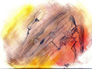 """Dawn"" Tecnica mista 2004"
