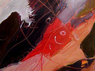 """""""  Fuga tra gli squali"""". Opera esposta alla 54^ Biennale di Venezia 2012 . Sala Nervi Torino"""