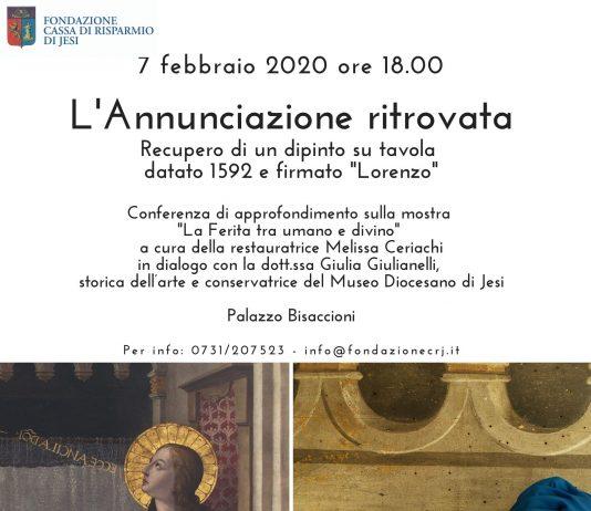 """L'Annunciazione ritrovata. Recupero di un dipinto su tavola datato 1592 e firmato """"Lorenzo"""""""