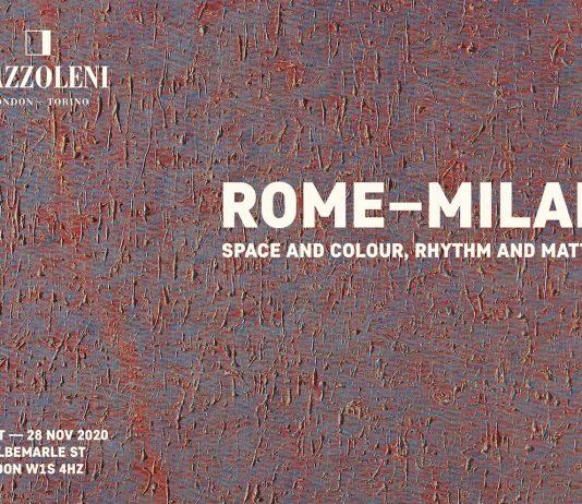 Roma – Milano: spazio e colore, ritmo e materia