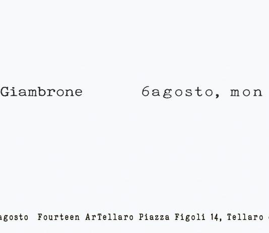 Silvia Giambrone – 6 agosto, mon amour