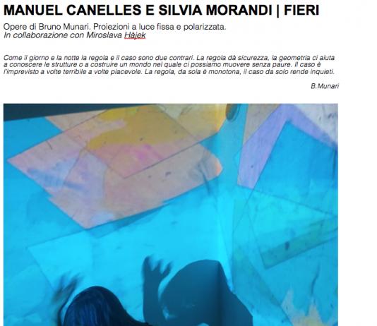 Manuel Canelles / Silvia Morandi – Fieri