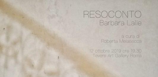 Barbara Lalle – Resoconto