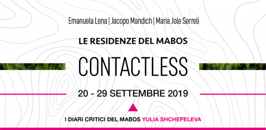 Le residenze del Mabos 2019: Contactless