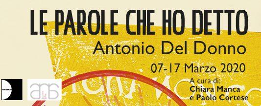 Antonio Del Donno – Le parole che ho detto